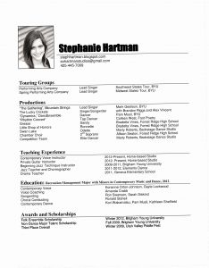 Singer Resume Template - Music Performance Resume Fresh Skills Resume Examples – Free Resume