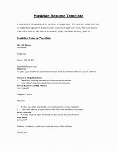 Singer Resume Template - Musicians Resume Template Best How to Write A Killer Music Resume