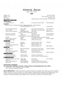 Singer Resume Template - Musicians Resume Template Best Musical theatre Resume Beautiful Best