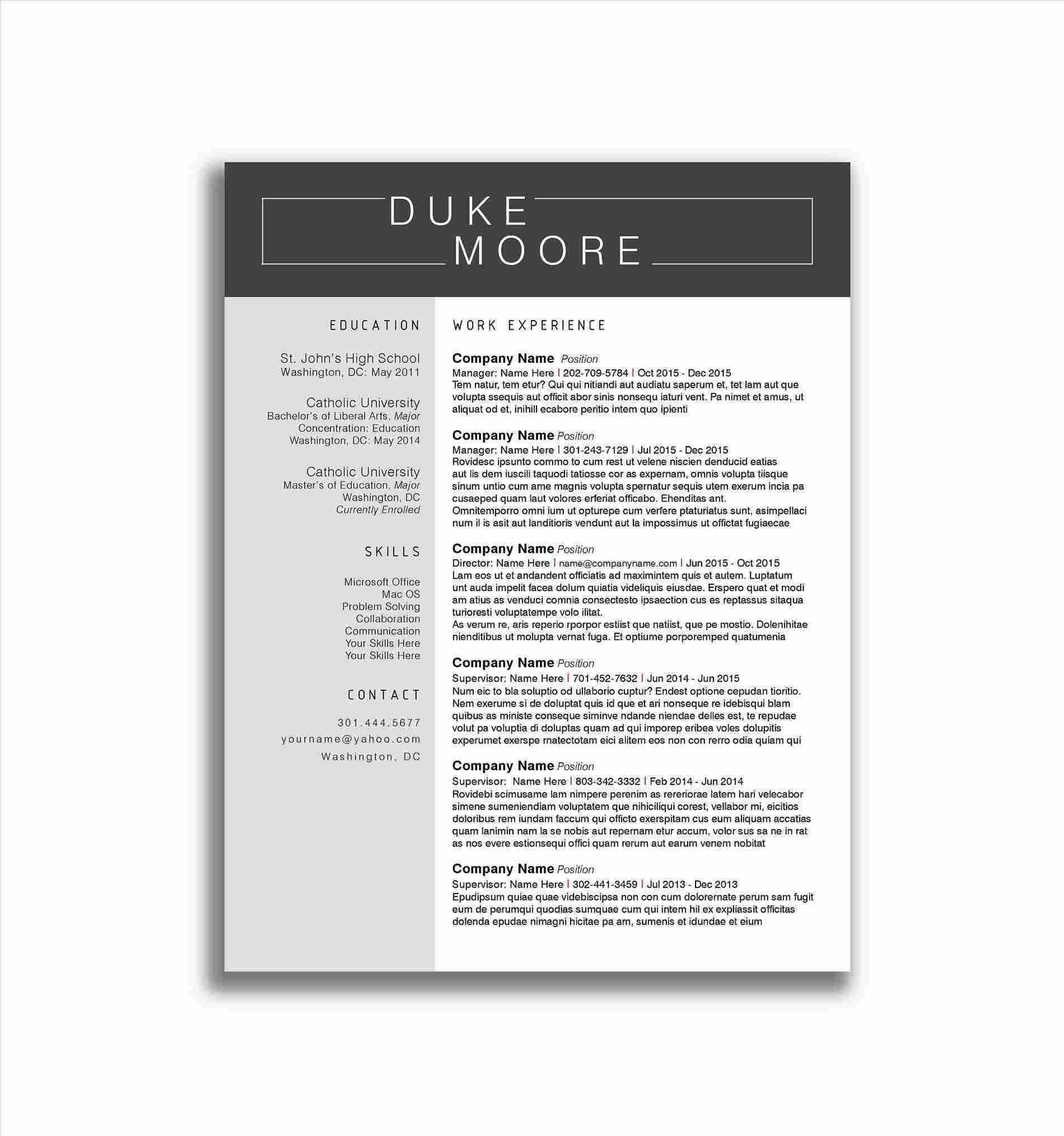sketch resume template Collection-sketch 3 resume template 3-t
