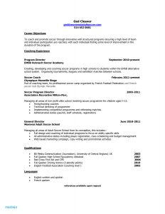 Soccer Player Resume Template - Professional soccer Player Resume Example soccer Coach Resume