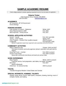 Soccer Resume Template - Puter Resume Examples Unique Resume for Highschool Students