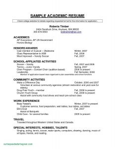 Soccer Resume Template for College - Good Resume Examples New Unique Resume for Highschool Students