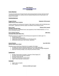 Soccer Resume Template for College - Coaching Resume Samples Unique Resumes and Cover Letters Elegant