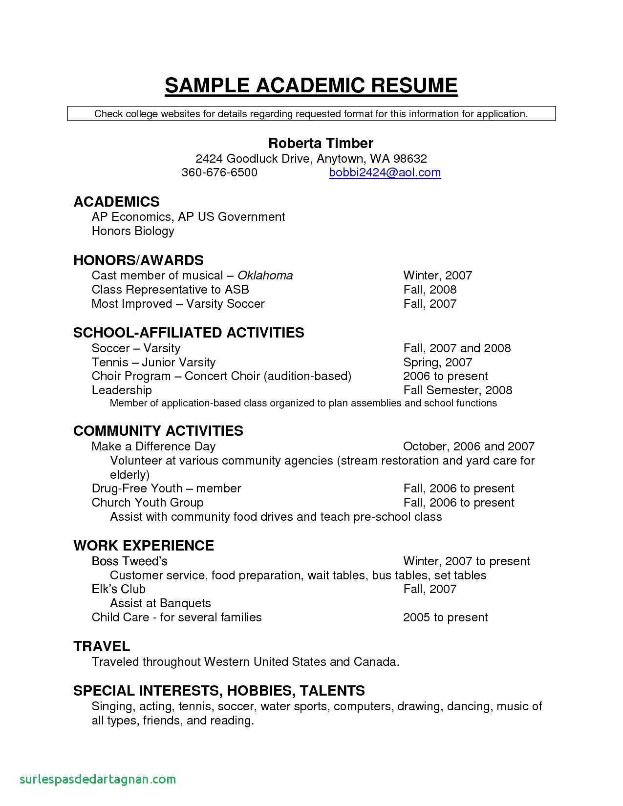 soccer resume template for college example-Good Resume Examples New Unique Resume for Highschool Students Excellent Resumes 0d High Good Resume 13-o