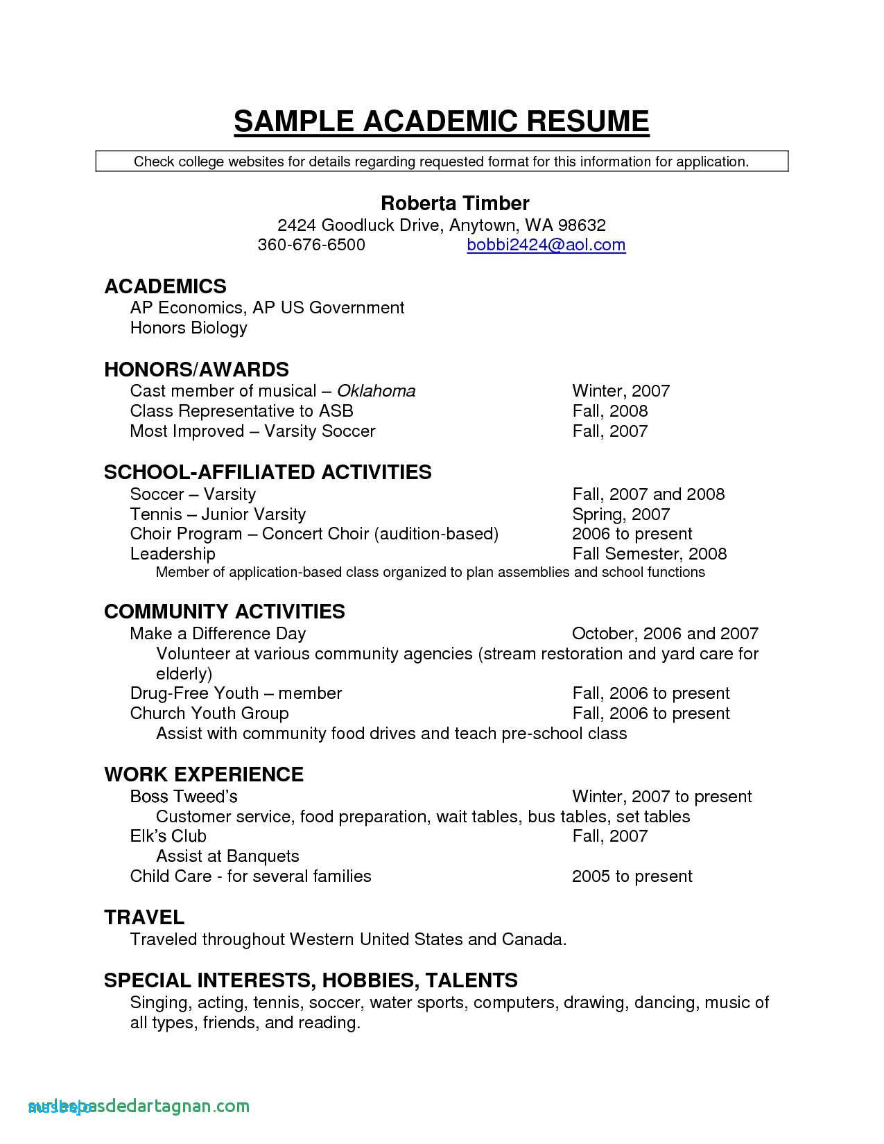 soccer resume template example-puter Resume Examples Unique Resume For Highschool Students Excellent Resumes 0d High 6-t