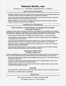 Social Services Resume - Download Luxury social Work Resumes