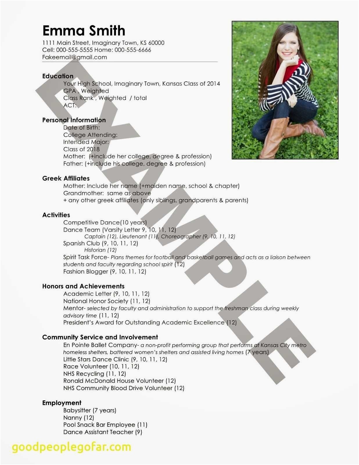 sorority rush resume template Collection-Good Things to Put A Resume New Lovely Entry Level Resume sorority Resume 0d Things 9-p