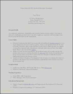 Sql Resume - Examples Human Resources Resumes New Resume Te Awesome Examples