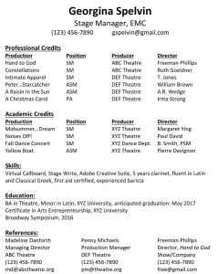 Stage Manager Resume Template - Lovely Stage Manager Resume Best Resume Template