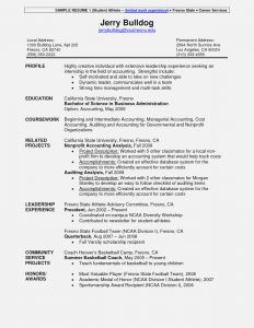 Student athlete Resume Template - Sports Resume Template Free