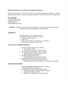 Student athlete Resume Template - 16 Student athlete Resume