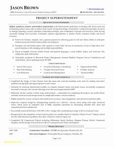 Superintendent Resume Template - Golf Course Superintendent Resumes Construction Superintendent