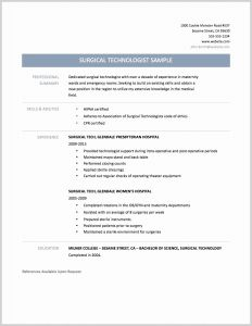 Surgical Tech Resume Template - Vet Tech Resume New Surgical Technician Resume Samples Elegant Tech