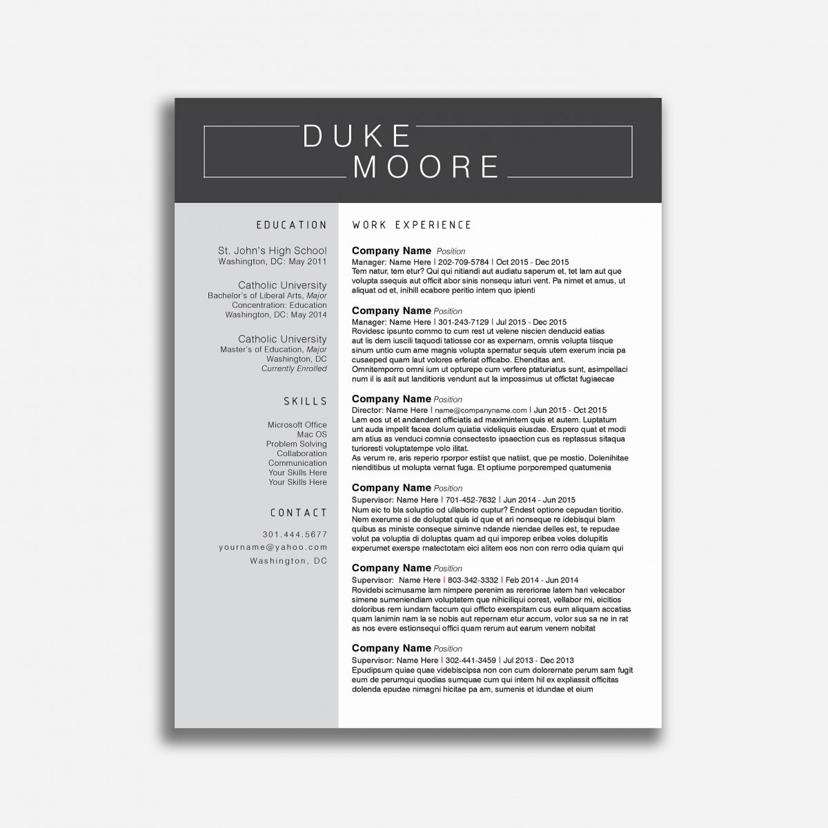 teacher resume template free download example-Creative Teacher Resume Templates Free Cute Teaching Resume Templates New Teaching Resume Template Microsoft Download 11-o