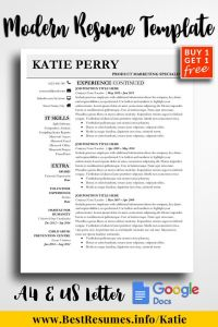 Teacher Resume Template Google Docs - Resume Template Katie Perry