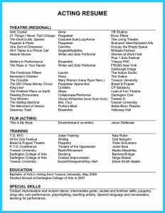 Technical theatre Resume Template - theatre Resume Best Design Acting Resume Example Inspirational