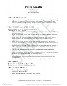 Telemarketing Resume - Telemarketer Resume Example Business Resume Example