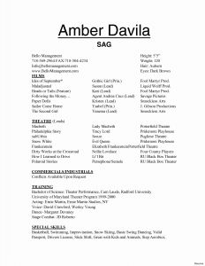 Theatre Tech Resume Template - Kids Resume Awesome Design theatrical Resume Inspirational Technical