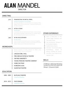 Theatrical Resume Template - 20 Musical theatre Resume Template