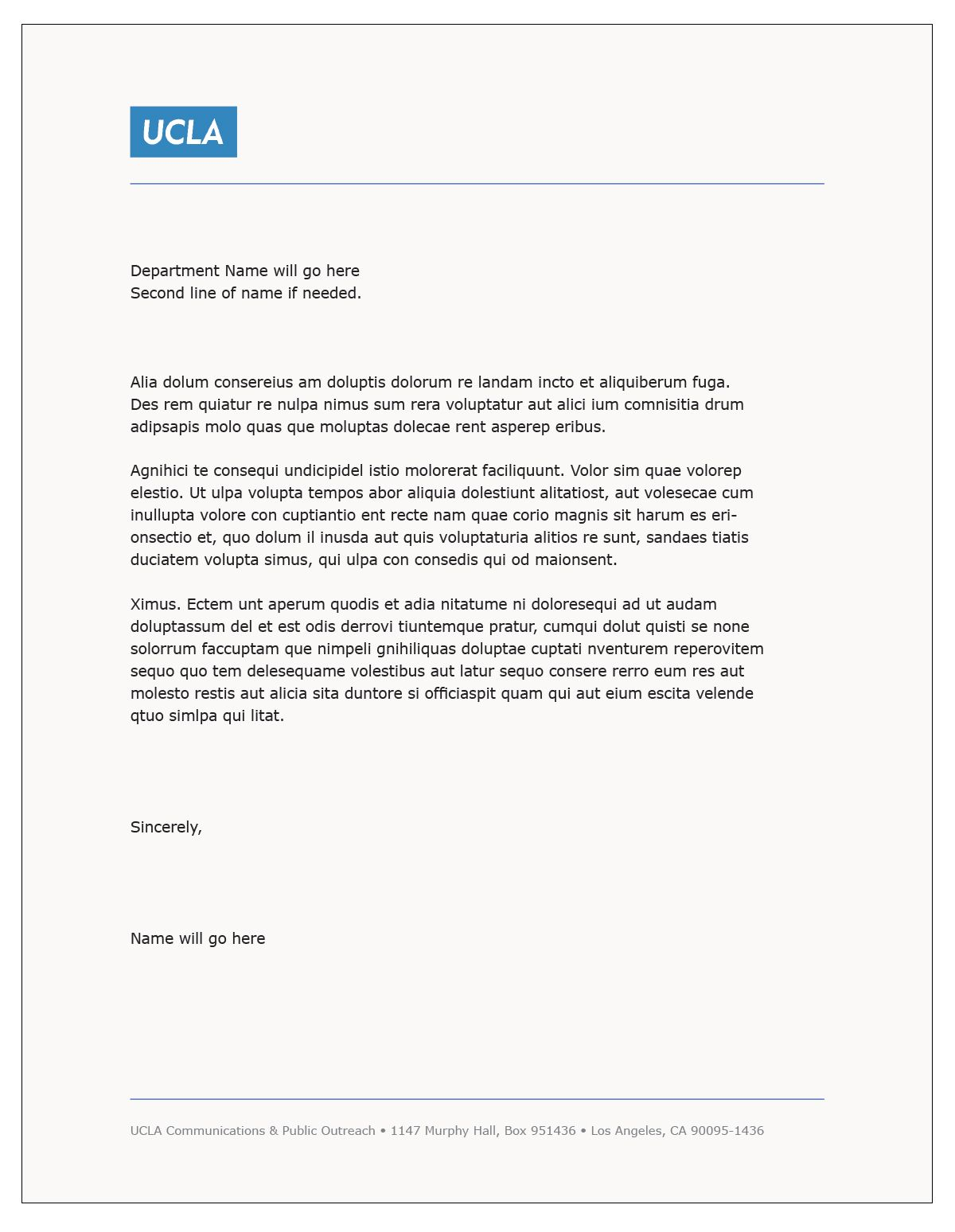 ucla resume template Collection-Cover Letter Template Ucla cover coverlettertemplate letter template 3-c