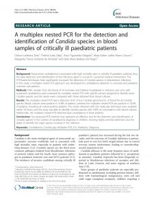 Uh Resume Template - Pdf A Multiplex Nested Pcr for the Detection and Identification Of