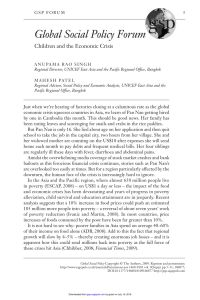 Upwardly Global Resume Template - Pdf Global social Policy forumchildren and the Economic Crisis