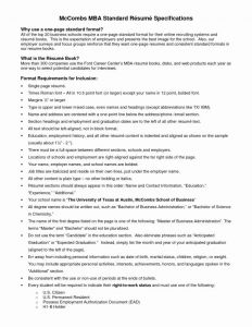 Utexas Mccombs Resume Template - Mc Bs Resume Template Fresh Mc Bs Resume Template Trending Resume