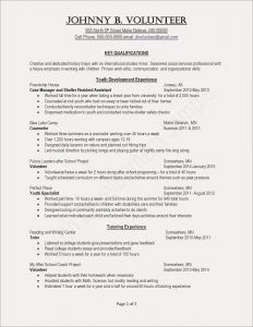 Volunteer Resume Template - Resume Template Copy and Save Activities Resume Template Valid Job