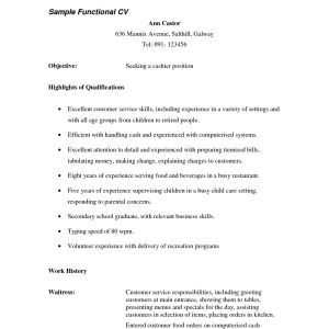 Waiter Resume Template - Waitress Resume Responsibilities Magnificent Waitress Resume