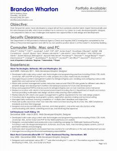Wharton Resume Template - Free Sample Resume Objectives Luxury Samples Resumes Unique Examples