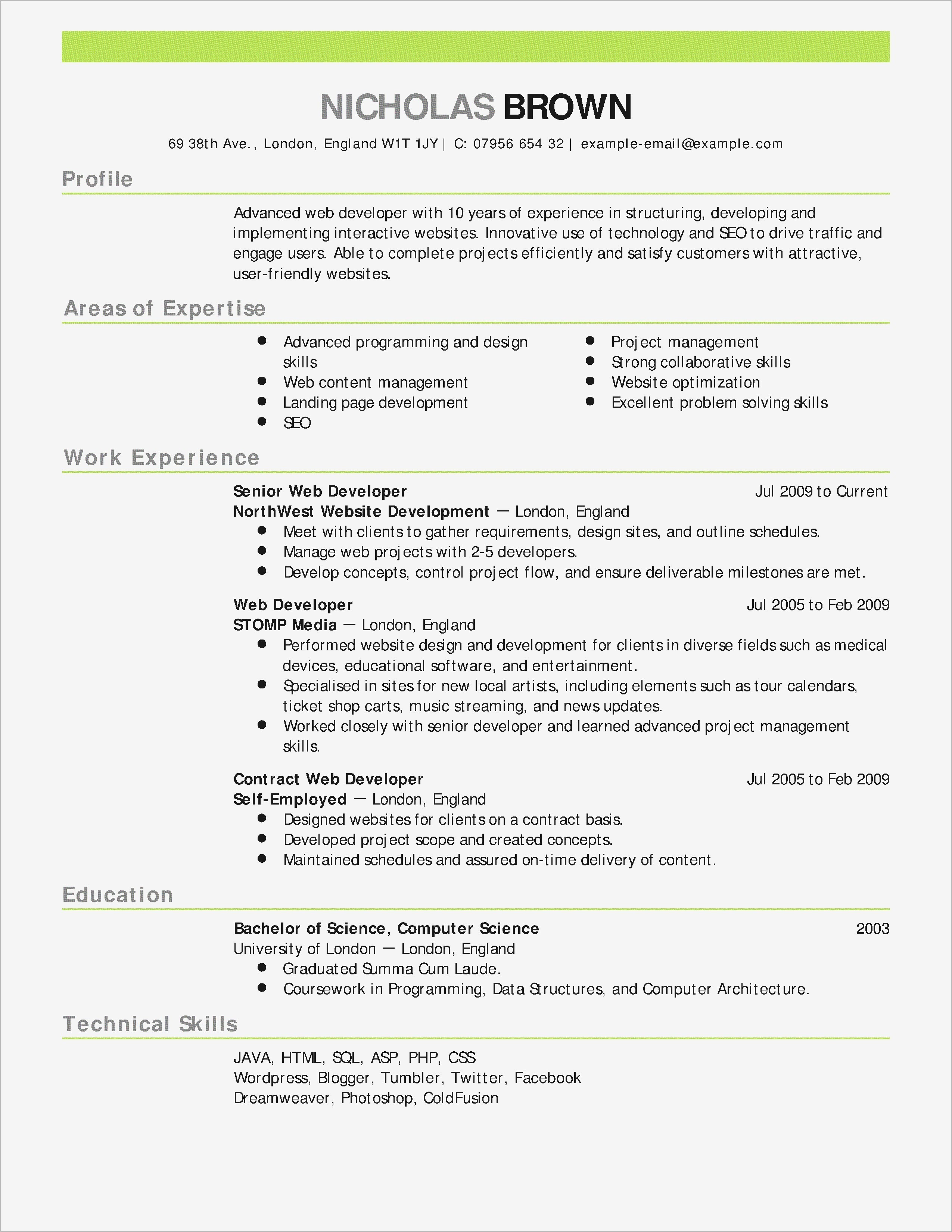 word 2003 resume template Collection-Elegant Free Resume Template for Word 5-a